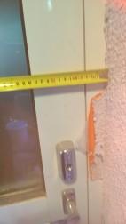 ovi nro 5. rapattu nyt pieliä aukko leveys nyt ulkoa 870mm, uusi ovi koko 850 leveä